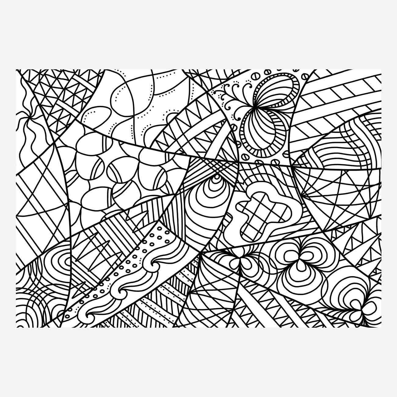 1300x1300 Zentangle Digital, Doodle Download, Doodle Digital Art, Pdf