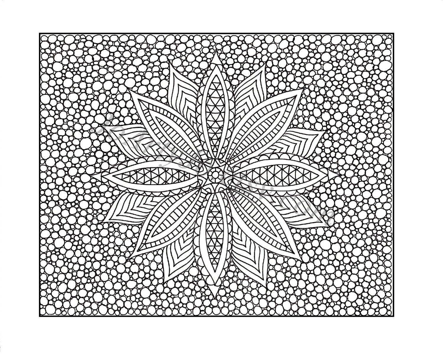 1500x1198 Zentangle Patterns Coloring Pages, Pen Illustration Printable