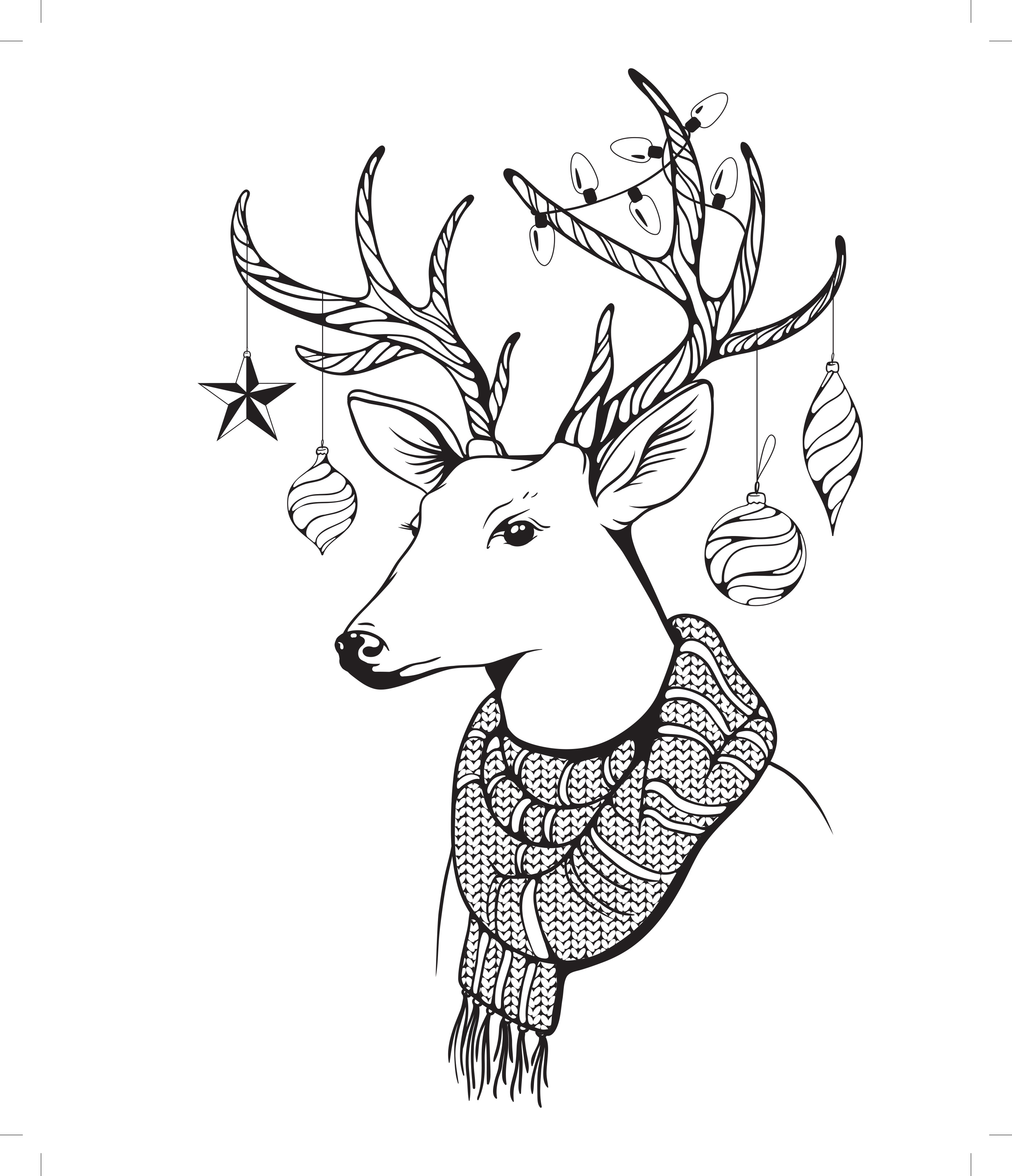 2775x3225 Hipster Coloring Pages On Coloring Pages With Christmas Decorative