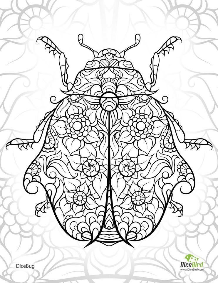 742x960 Ladybug Abstract Doodle Zentangle Zendoodle Paisley Coloring Pages