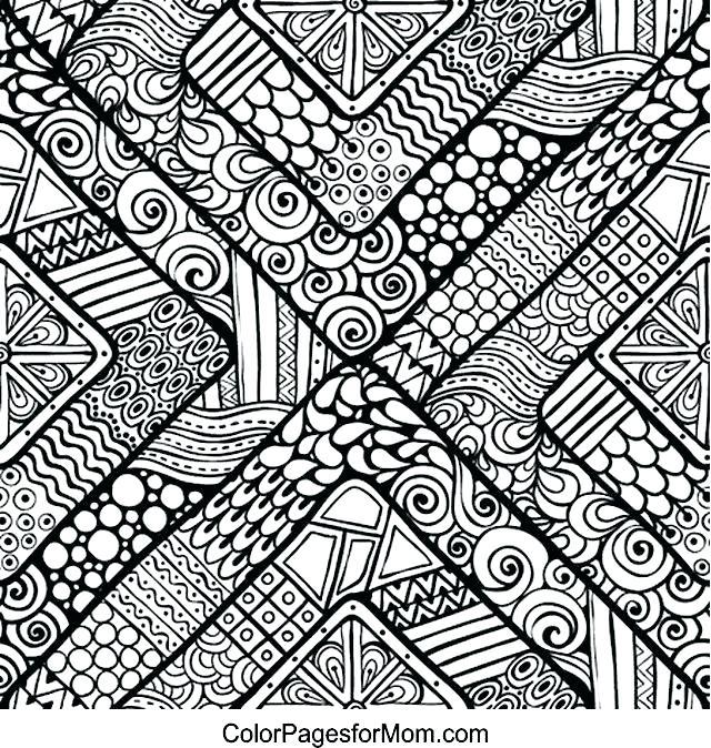 640x674 Zendoodle Coloring Pages