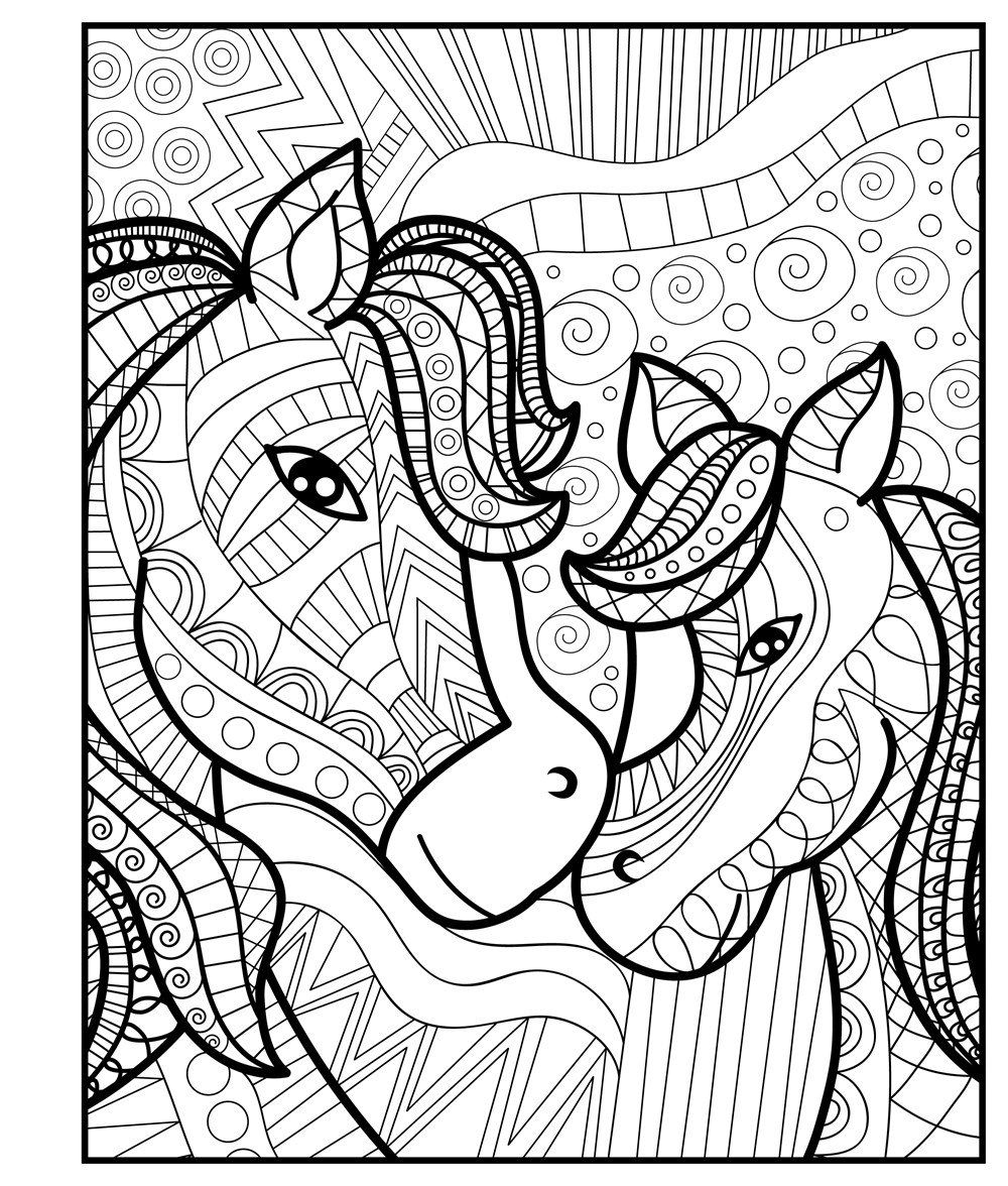 1000x1176 Zendoodle Coloring Baby Animals Adorable Critters