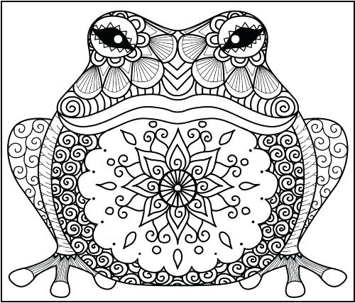 500x428 Inspirational Zentangle Coloring Pages For Pagan Animal Coloring