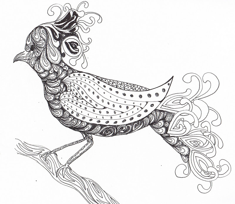 800x695 Zentangle Coloring Pages Animals