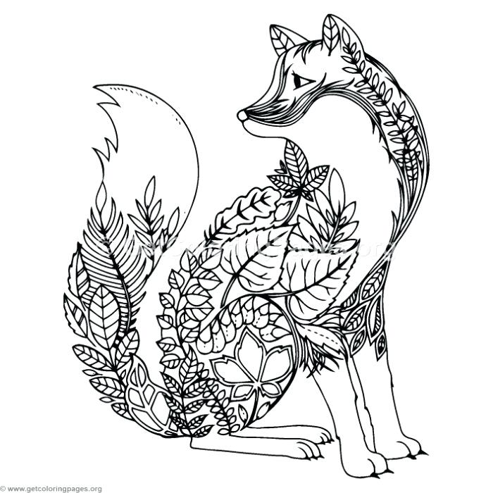 700x700 Coloring Pages Zentangle Animals
