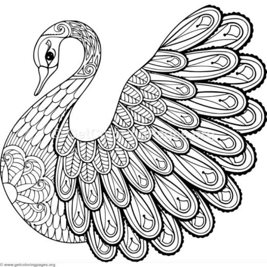 520x520 Zentangle Animal Coloring Pages Kids