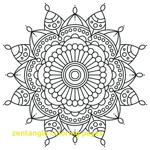 500x500 Zentangle Coloring Pages