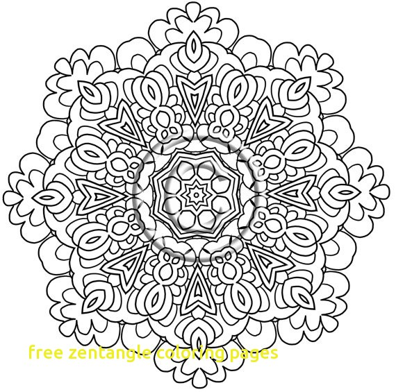 570x565 Free Zentangle Coloring Pages With Plex Elephant Coloring Pages