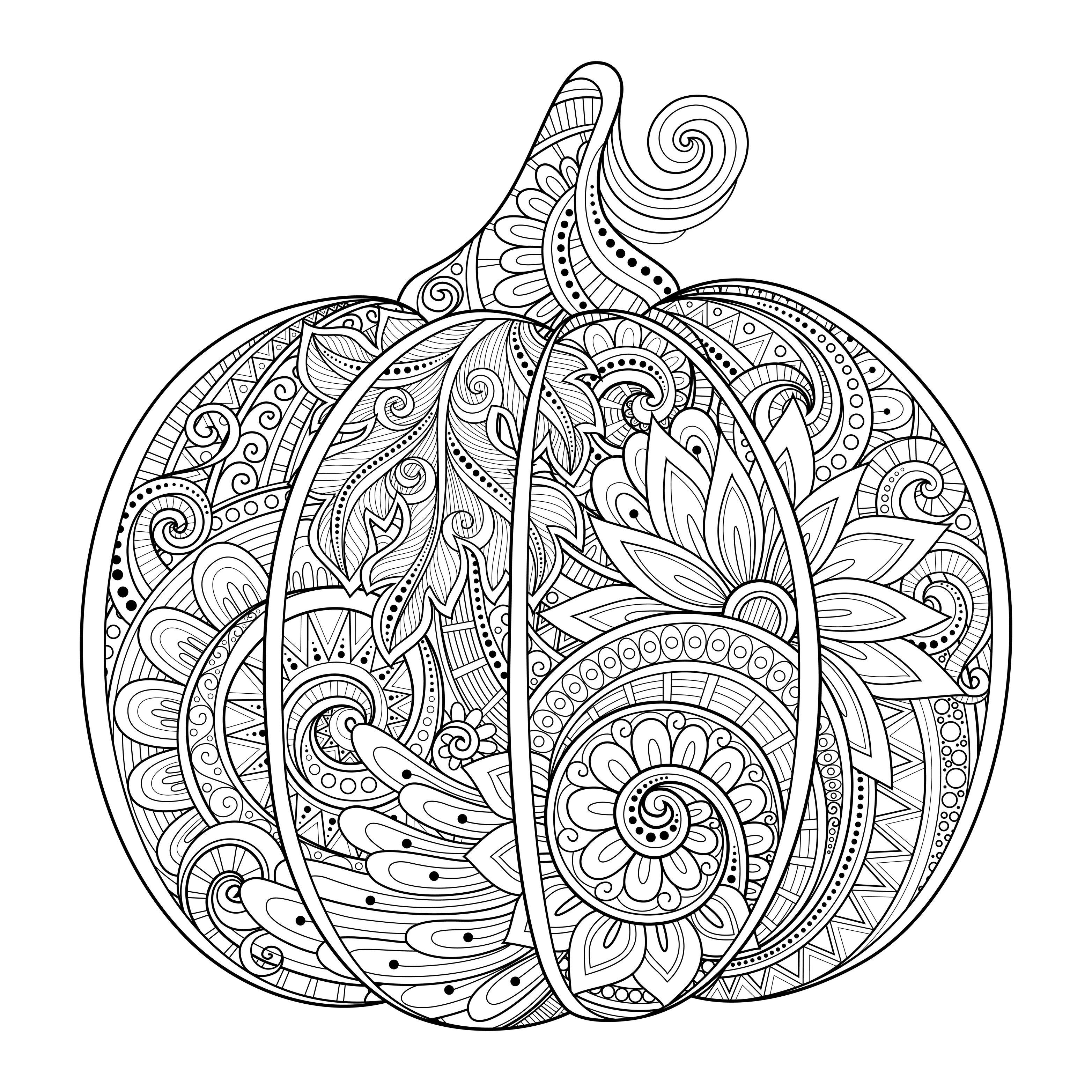 3128x3128 Halloween Pumpkin Zentangle Source Irinarivoruchko