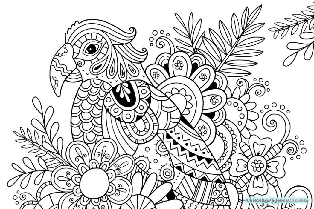 1050x700 Hard Zentangle Coloring Pages For Kids Striking