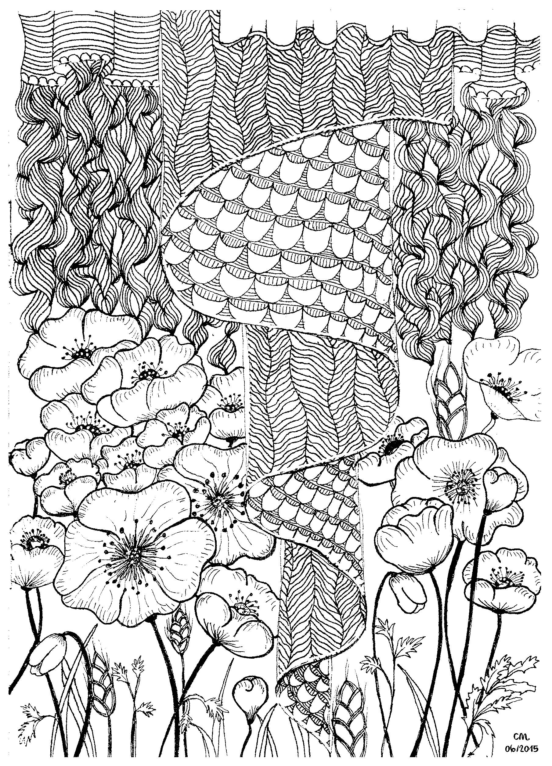 1809x2511 Zentangle Coloring Pages Tree Printable