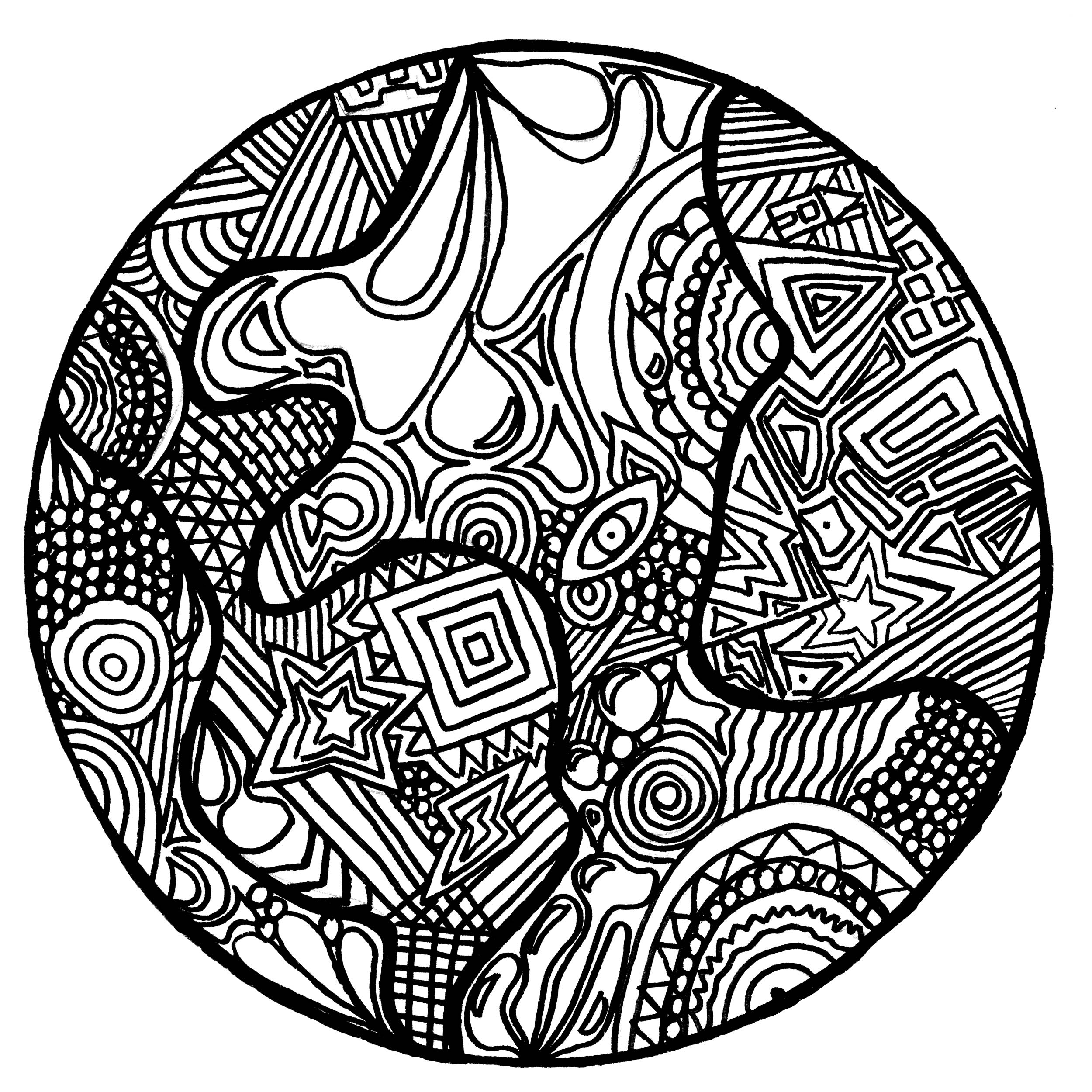 2500x2500 Zentangle To Download For Free Zentangle