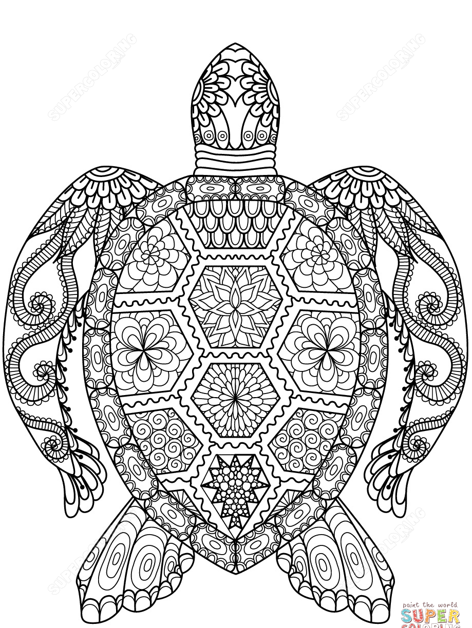 919x1224 Dragon Zentangle Coloring Page Free Printable Extreme Pages