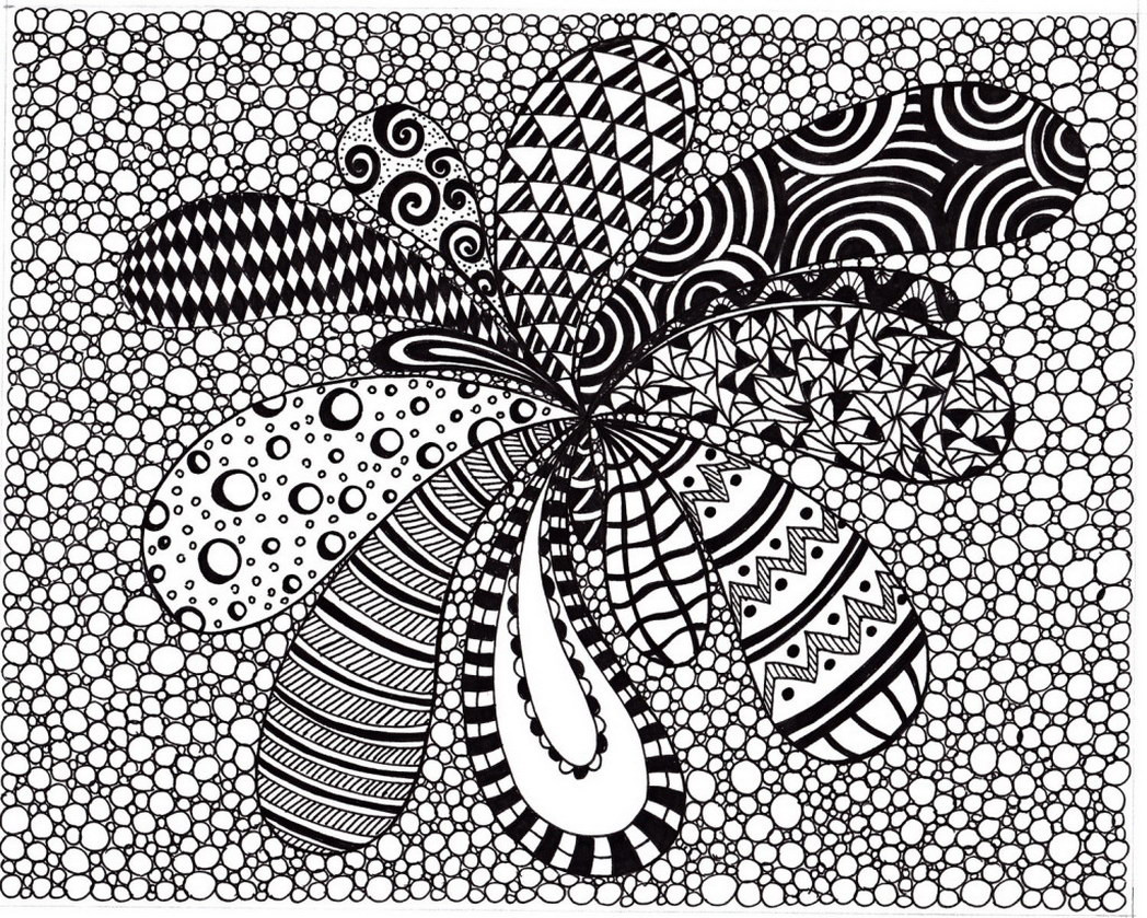 1048x839 Excellent Abstract Zentangle Coloring Pages With Printable Lovely