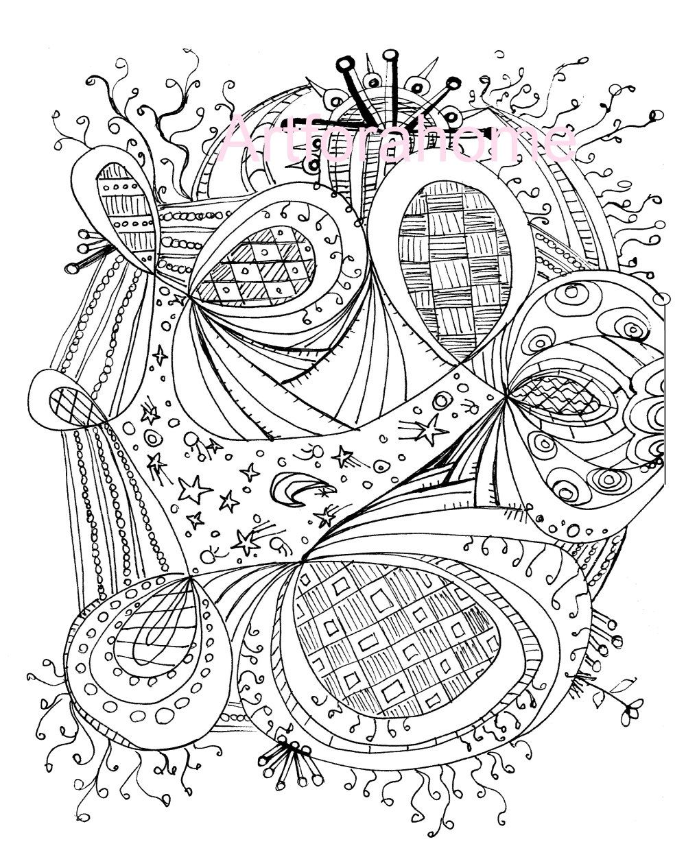 1000x1250 Image Detail For Zentangle Coloring Page, Printable, Download