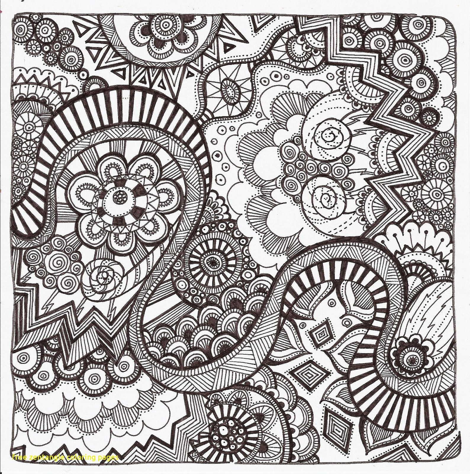 1588x1600 New Free Zentangle Coloring Pages Wkwedding