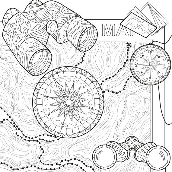 570x570 Printable Coloring Page Zentangle Camping Coloring Book Pdf
