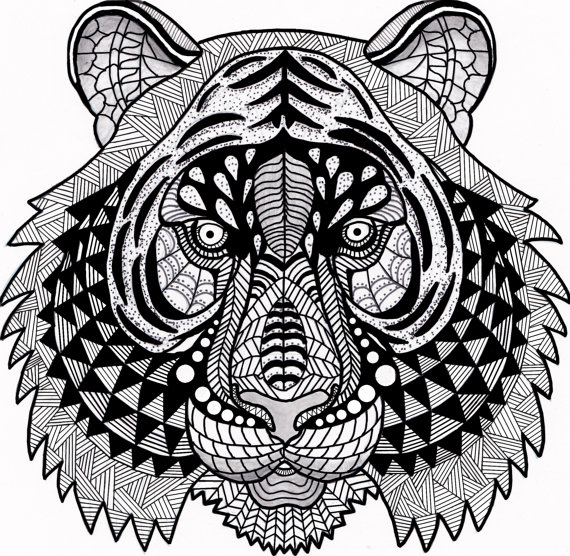 570x556 This Is A Zen Inspired Handmade, Hand Drawn Digital Coloring Page