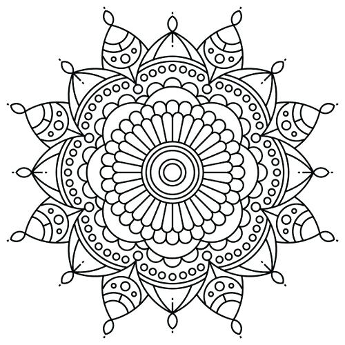 500x500 Zentangle Coloring Pages Printable Image Printable Zentangle