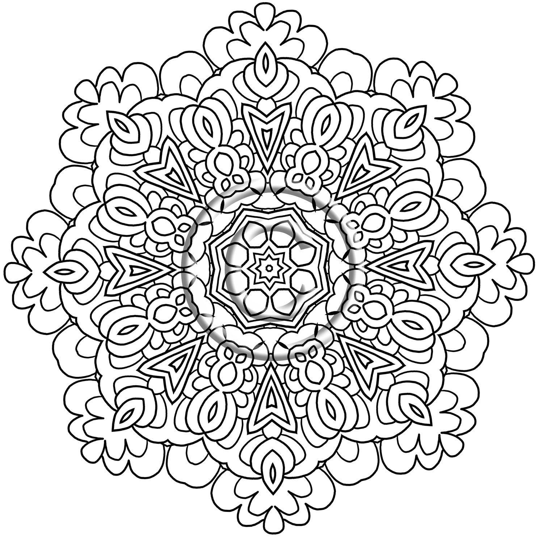 1500x1487 Coloring Intricate Mandala Pages Regarding Prepare