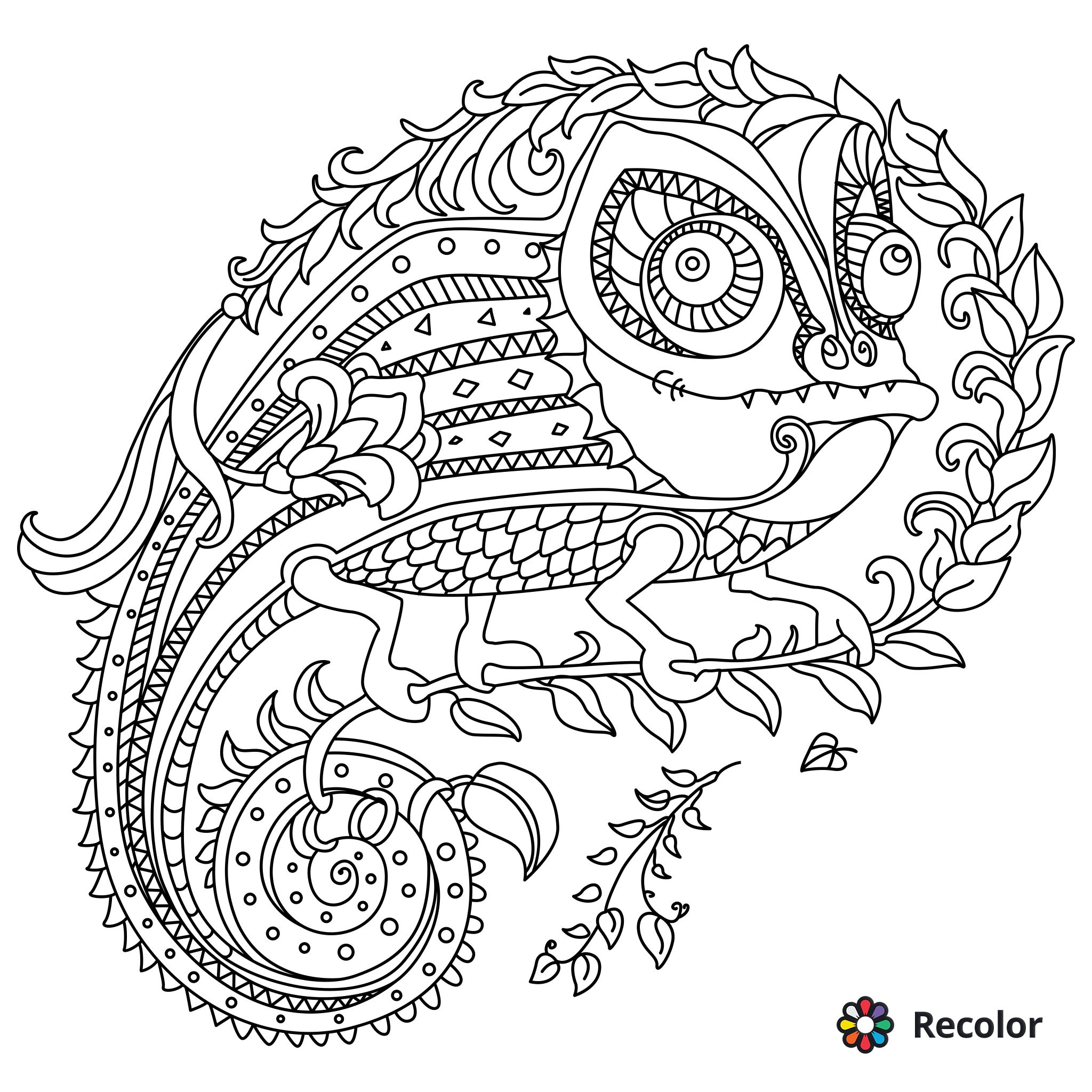 2048x2048 Abstract Doodle Zentangle Coloring Pages Colouring Adult Detailed