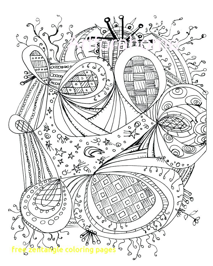 736x920 Printable Zentangle Coloring Pages Pdf