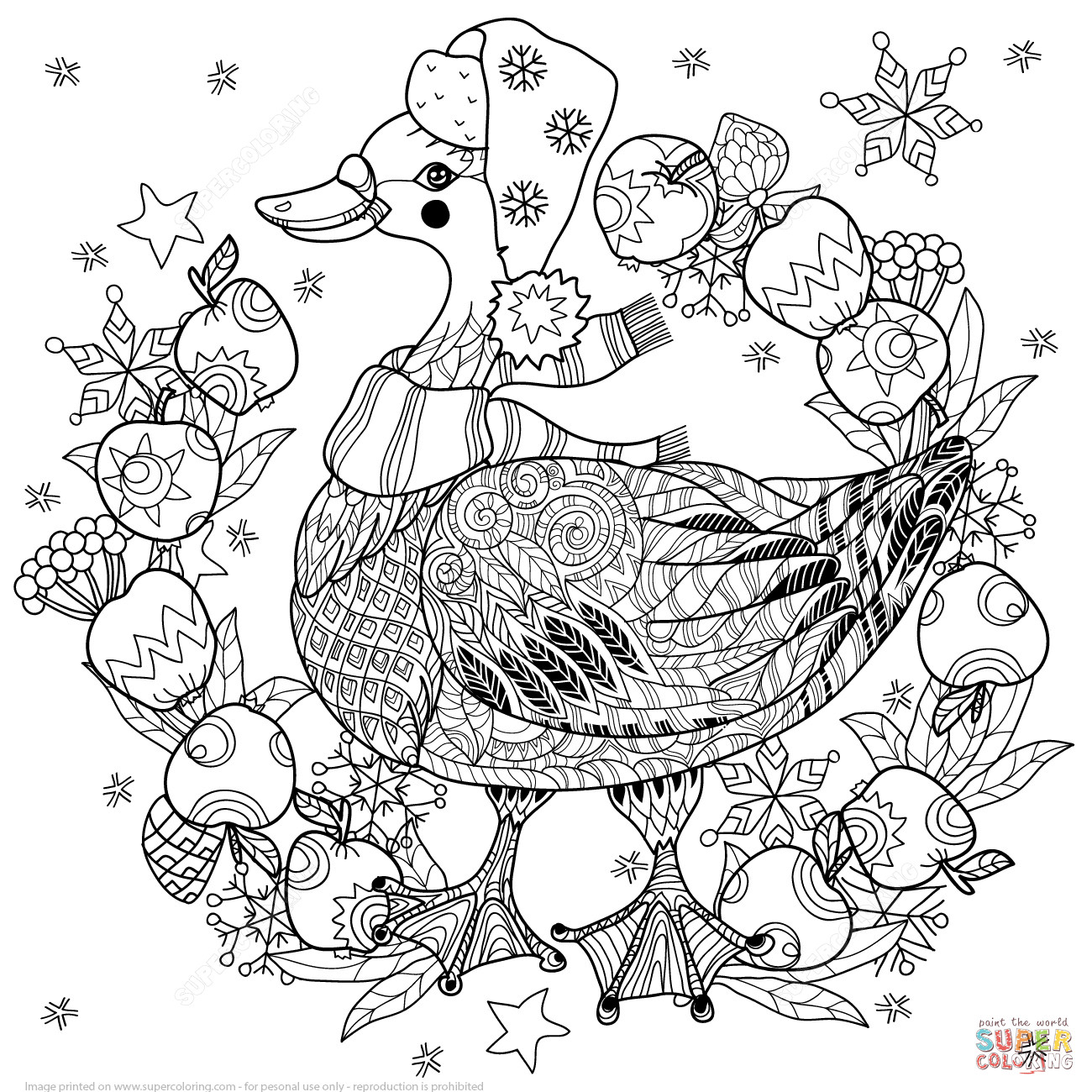 1300x1300 Christmas Zentangle Coloring Pages Tree Page Free Printable