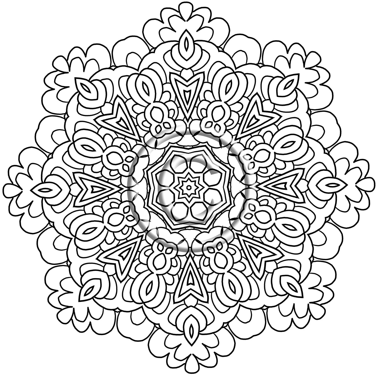 Zentangle Coloring Pages To Print