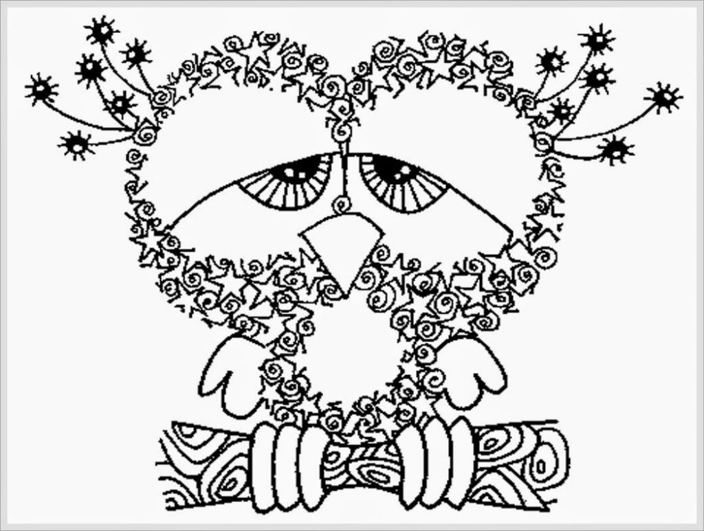 1024x773 Halloween Zentangle Coloring Sheet Pages Throughout Free