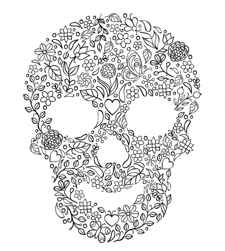 736x824 Best Skull Zentangle Coloring Images On Zen Tangles