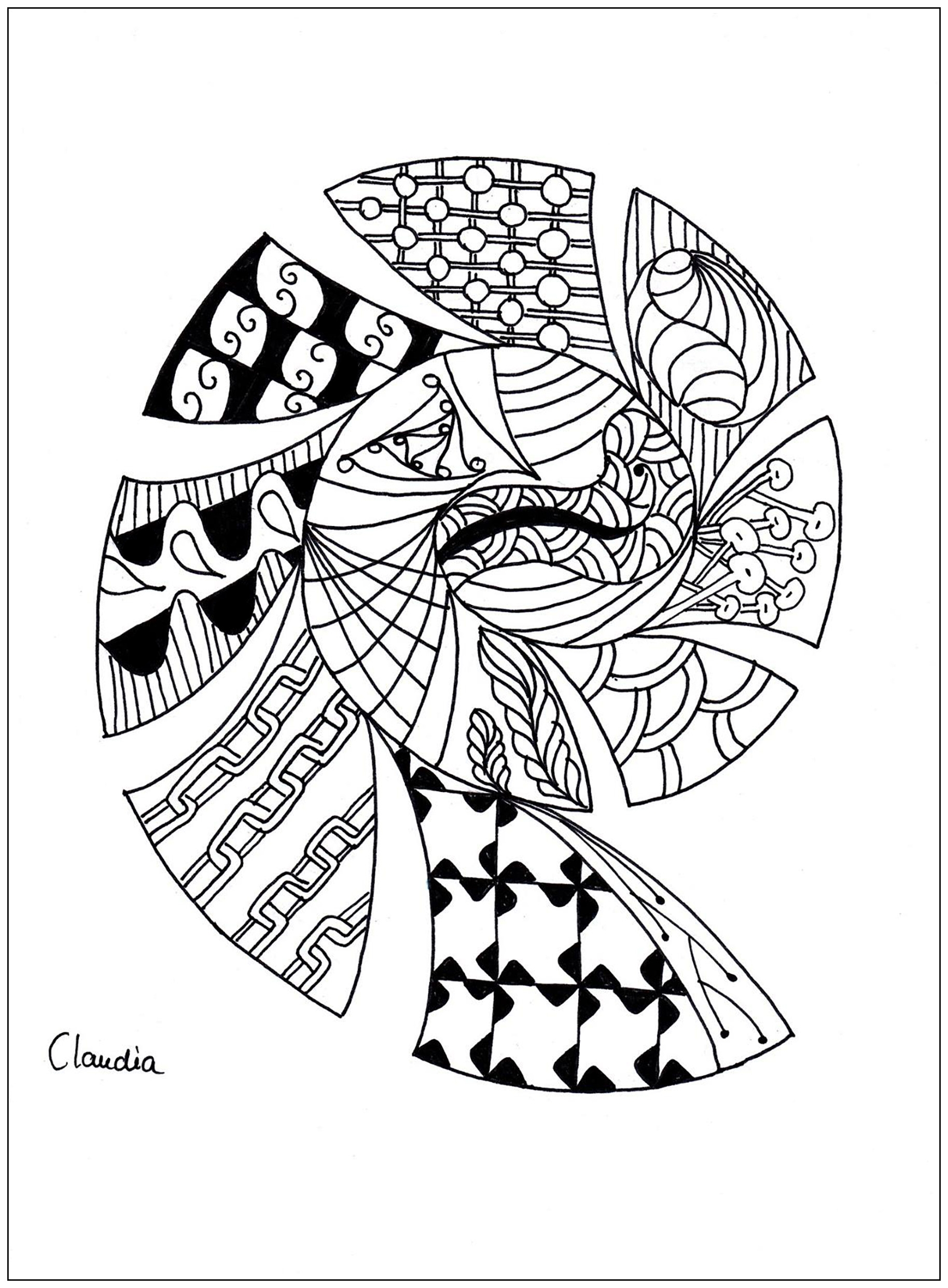 1828x2483 Simple Zentangle Coloring Pages Collection