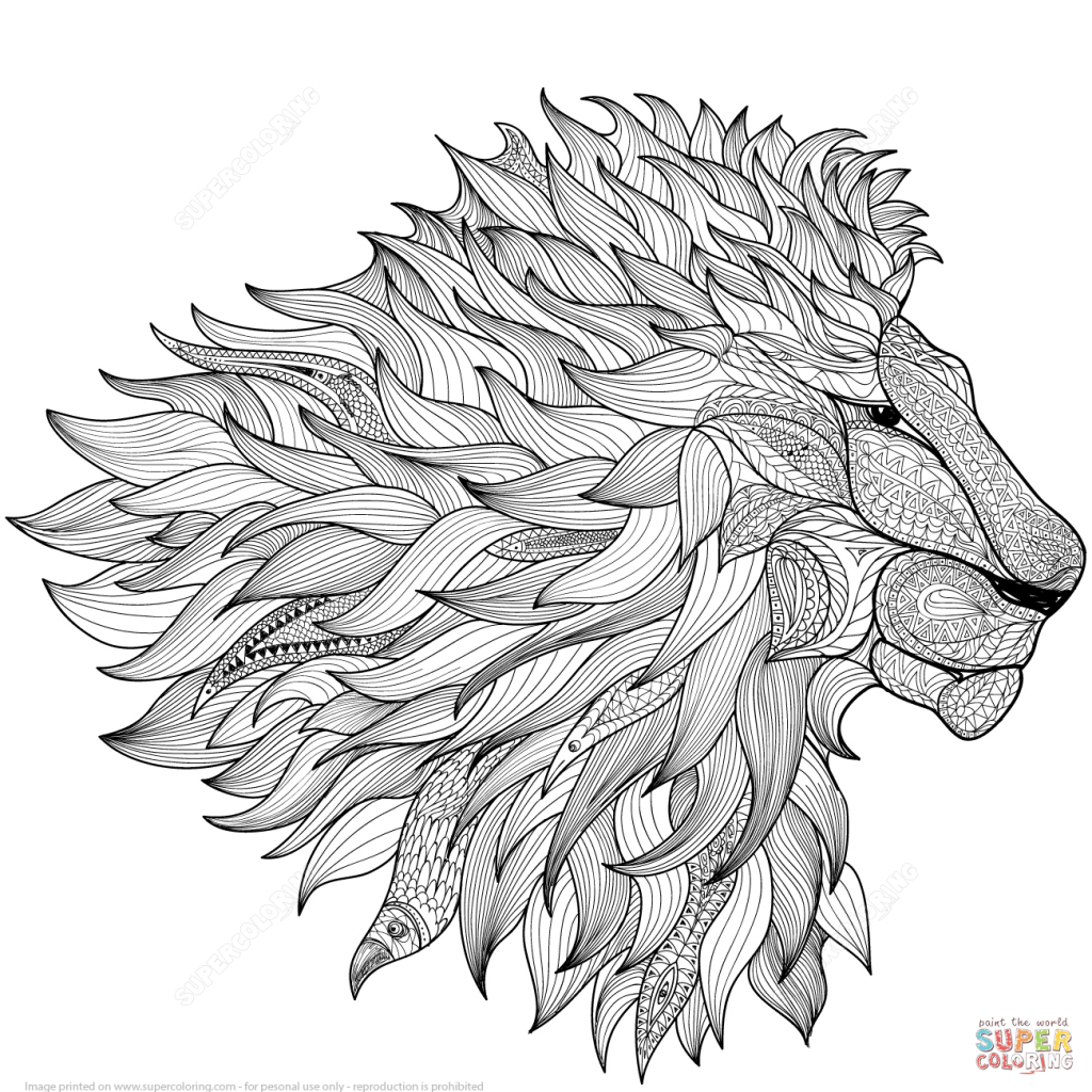 1024x1024 Wonderful Decoration Coloring Page Zentangle Lion Zentangle