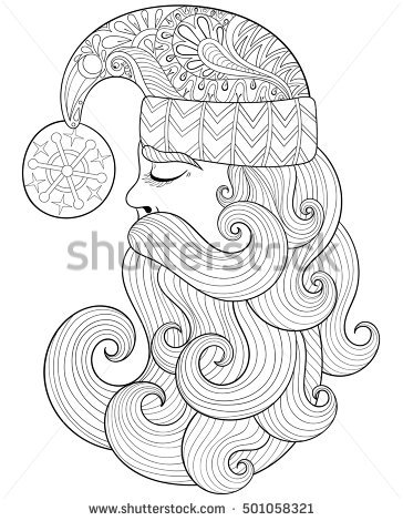 364x470 Zentangle Coloring Pages For Christmas