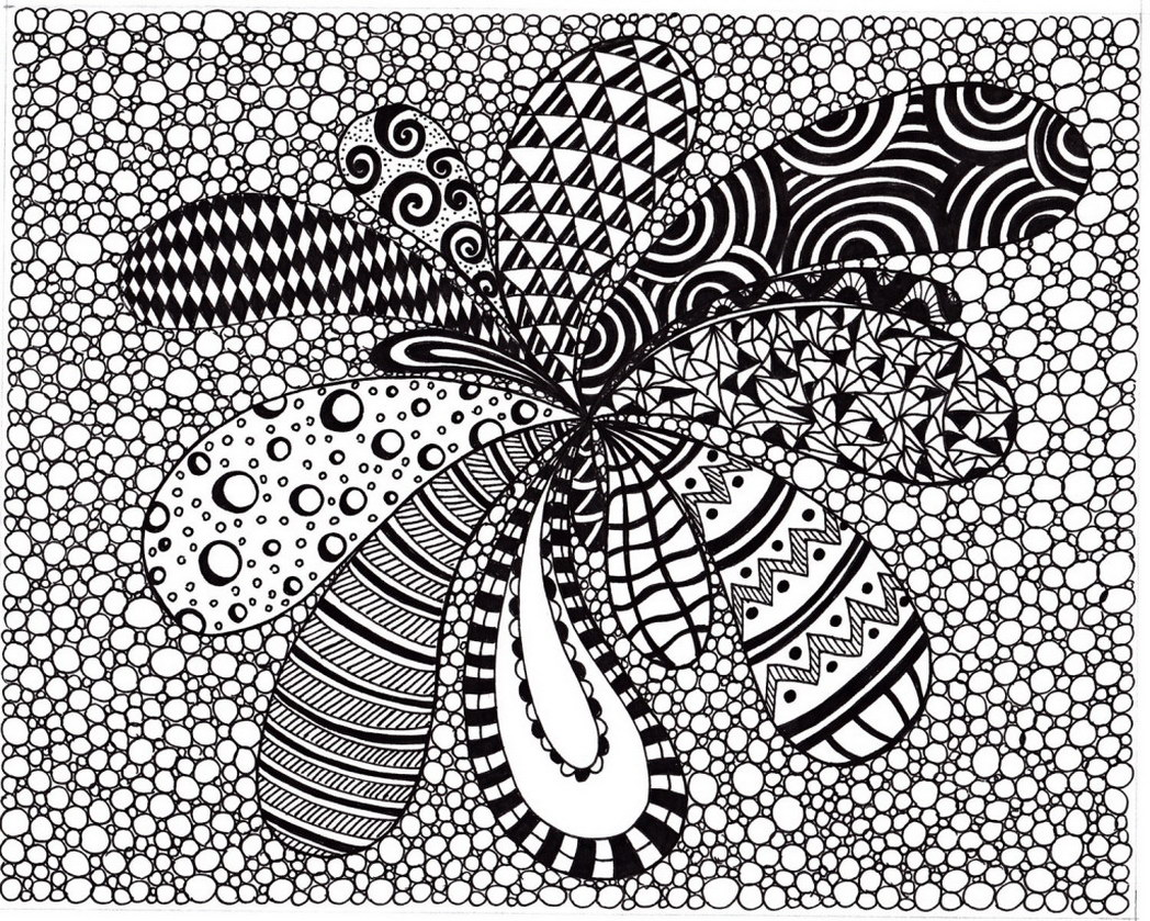 1048x839 Abstract Art Coloring Pages Printable