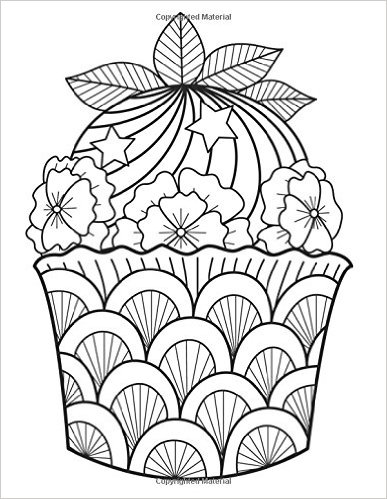 387x499 Cupcake Zentangle Coloring Pages Colouring In Amusing Print Pict