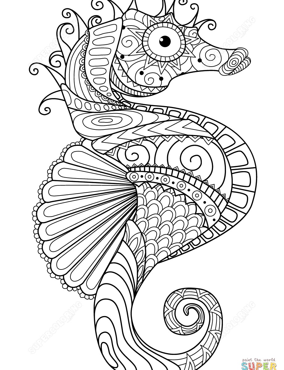 920x1200 Coloring Pages For Adults Horses New Wolf Zentangle Page Inside