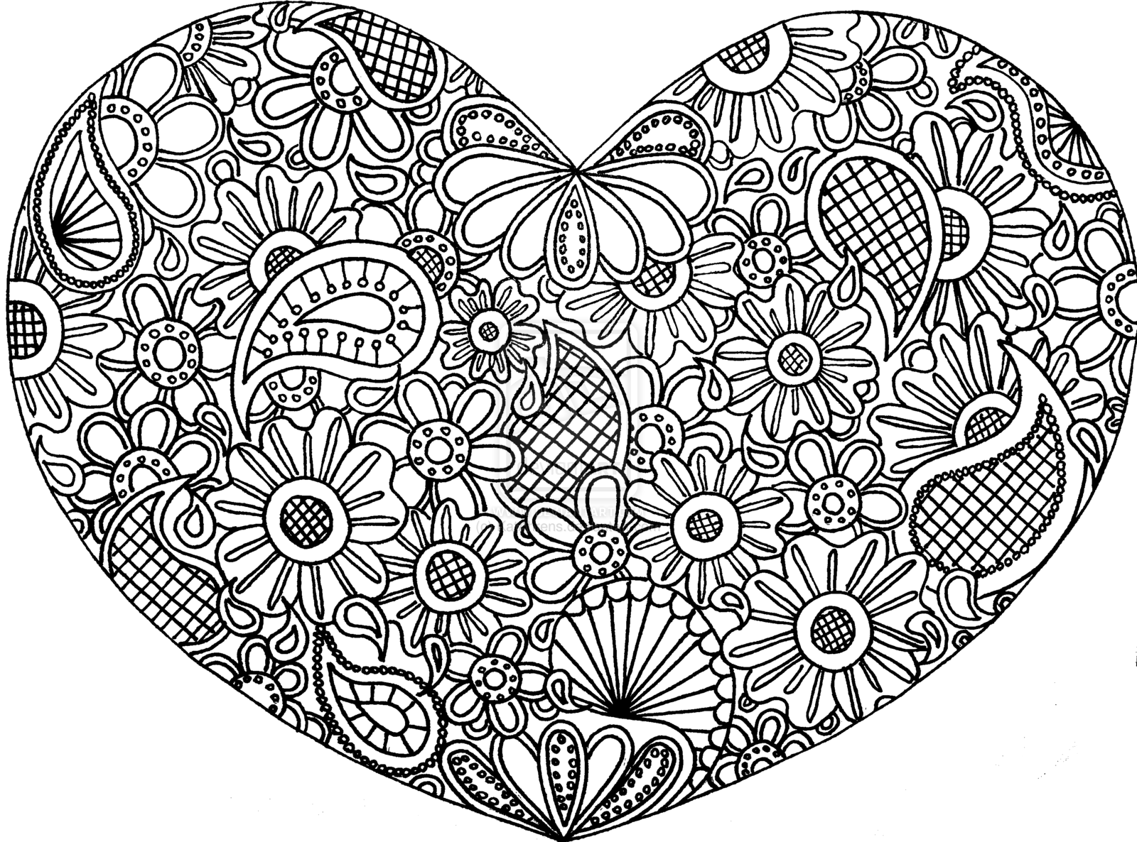 1600x1186 Free Zentangle Coloring Pages Colored Zentangles Hearts Doodle Art