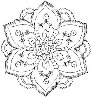 302x320 Hard Flower Coloring Pages To Color
