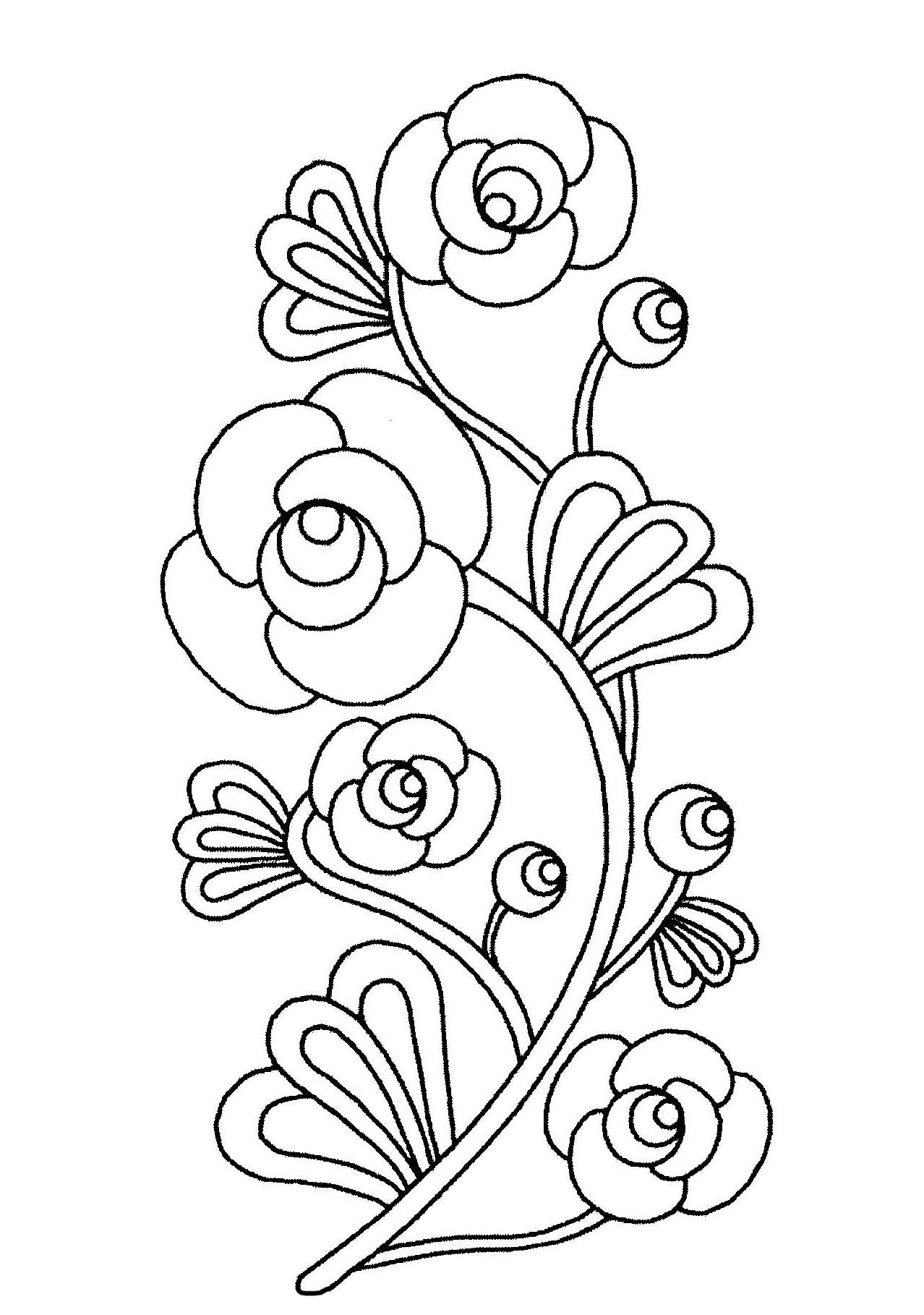 1278x1818 Printable Flower Coloring Pages For Kids Best Pictures To Print