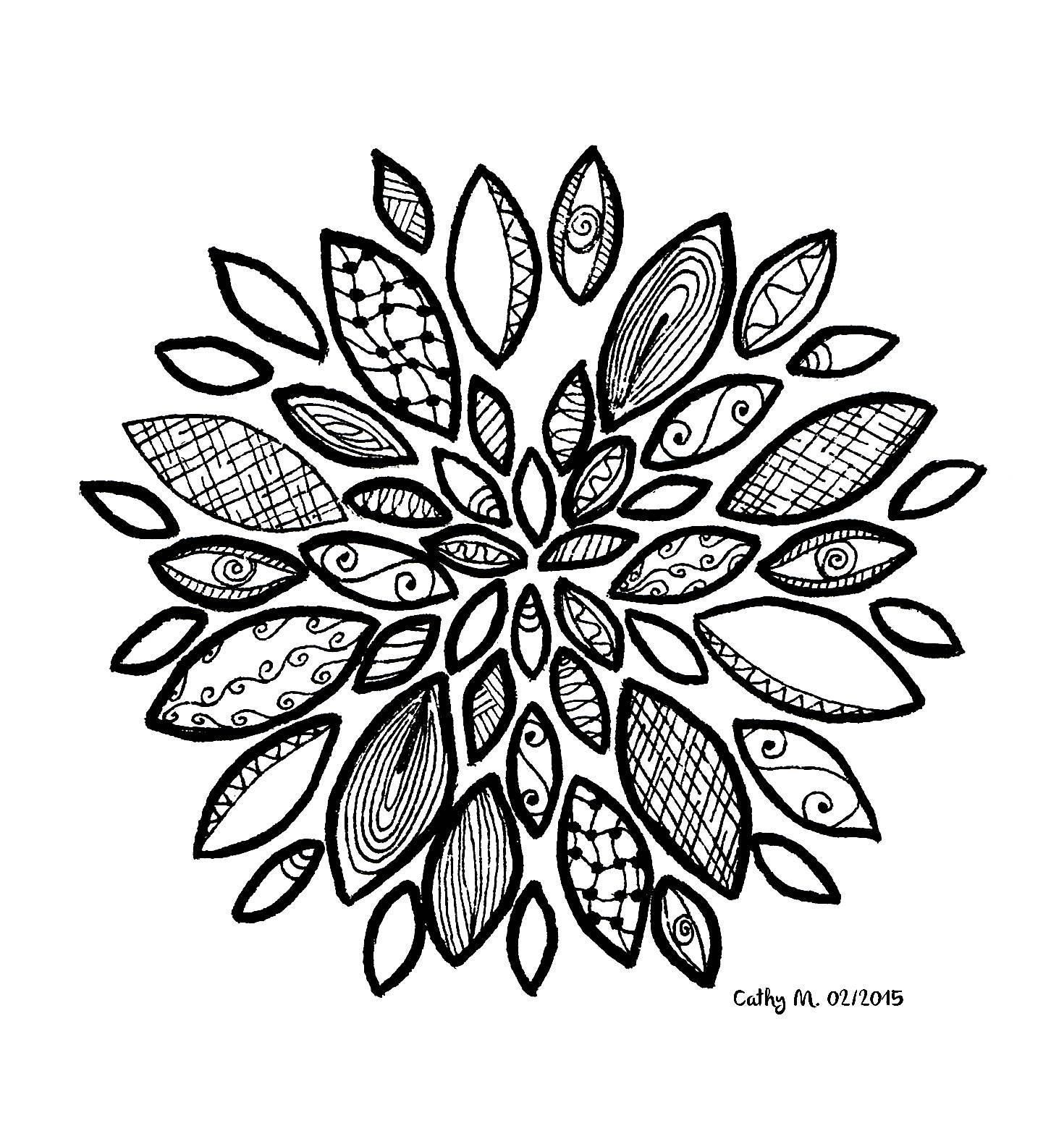 1470x1581 Zentangle Flower Coloring Pages Coloring Page Fun