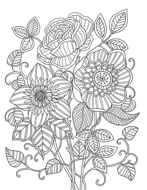 600x776 Mon Jardin Coloring Book Agenda Zentangles