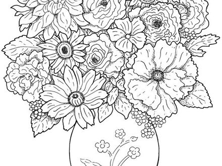 440x330 Detailed Flower Coloring Pages, Zentangle Coloring Pages