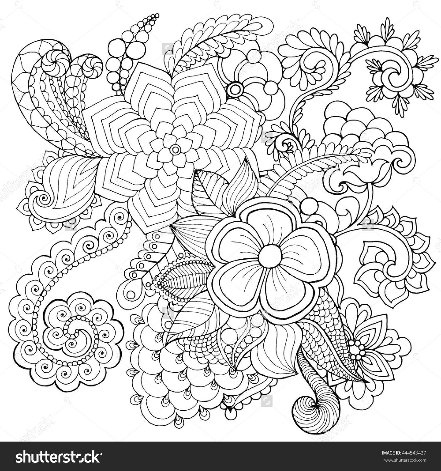 1500x1600 Astonishing Zentangle Flower Coloring Page Fun Picture Of Styles