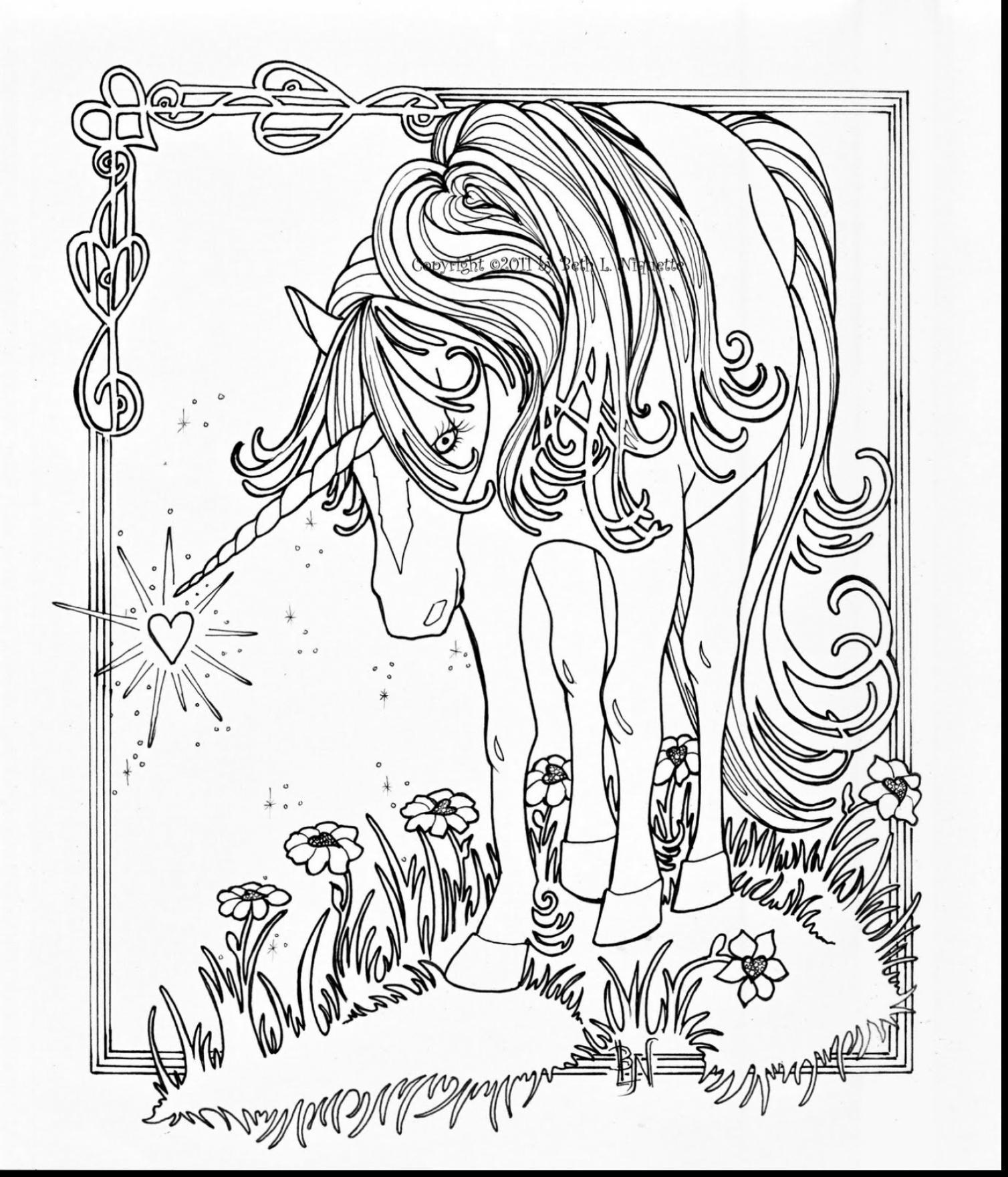 1508x1760 Elegant Zentangle Patterned Horse Portrait Doodle Page For Adult