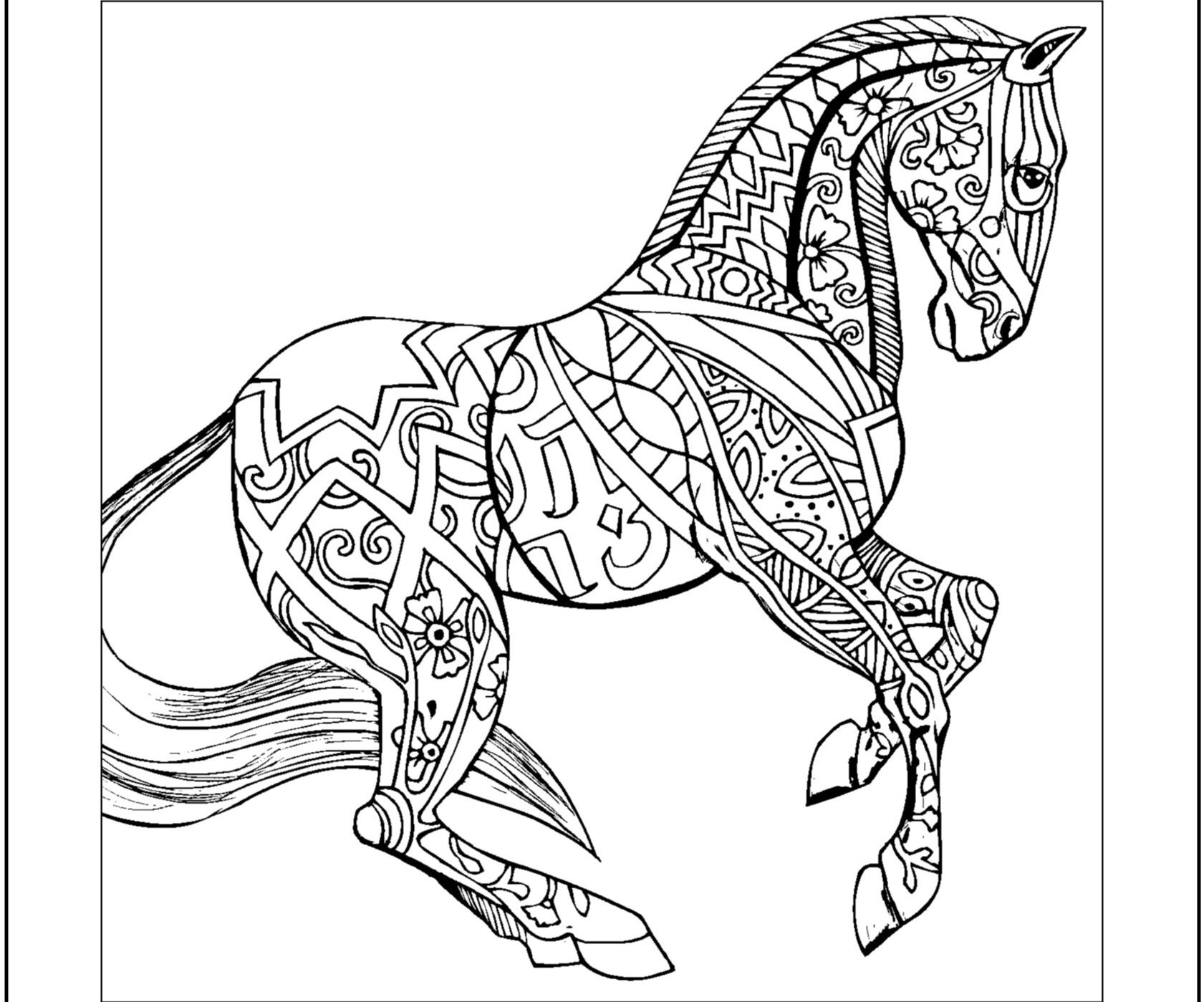 1681x1399 Hard Horses Coloring Pages Animal Coloring Pages All Time