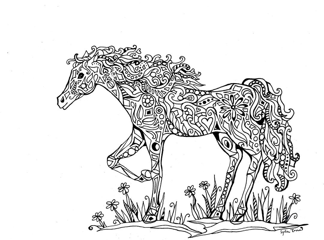 1080x800 Intricate Coloring Pages For Adults Announcing Vidonya On Etsy