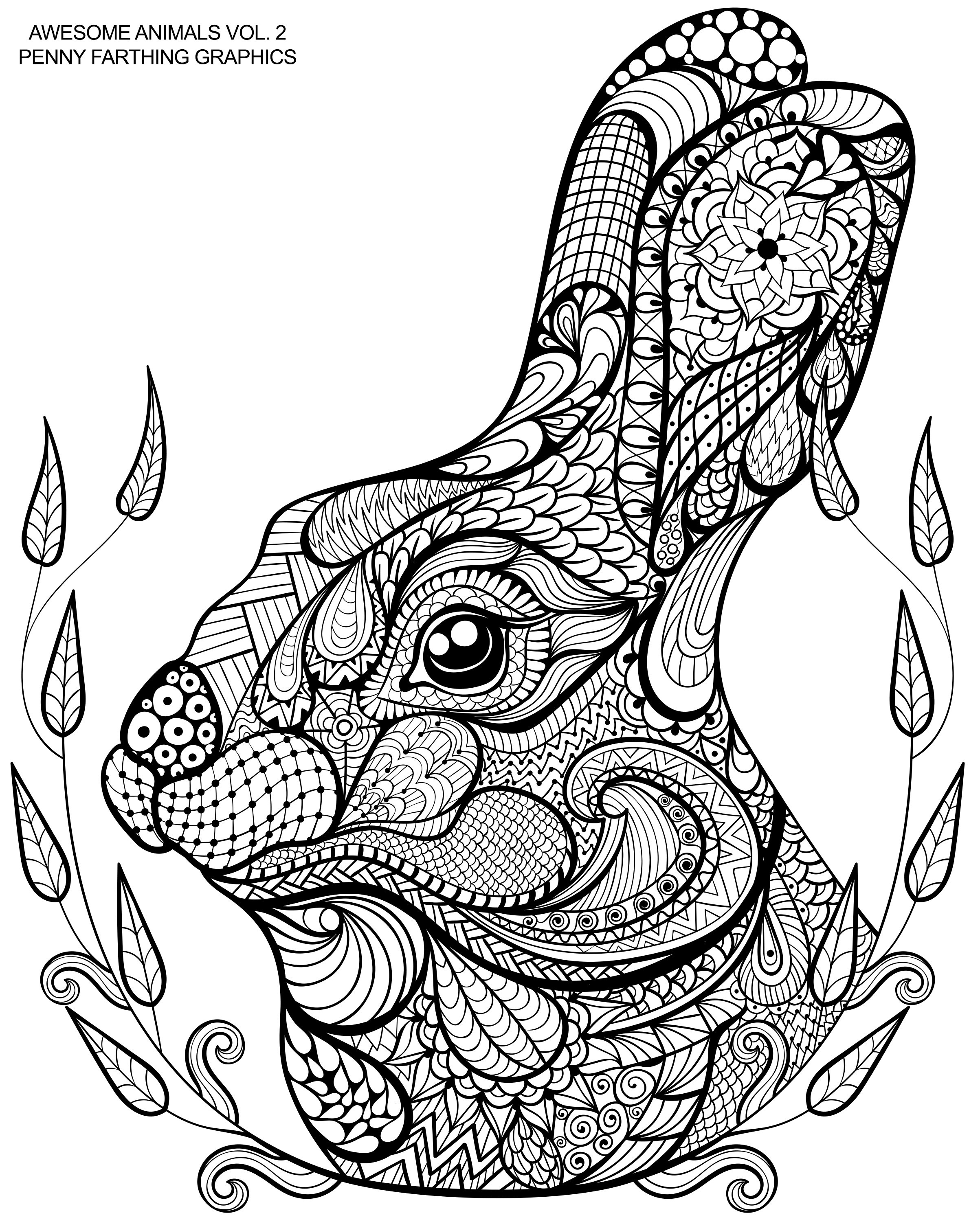 2406x3006 Zentangle Horse Coloring Pages Abstract Best Of Cute Bunny
