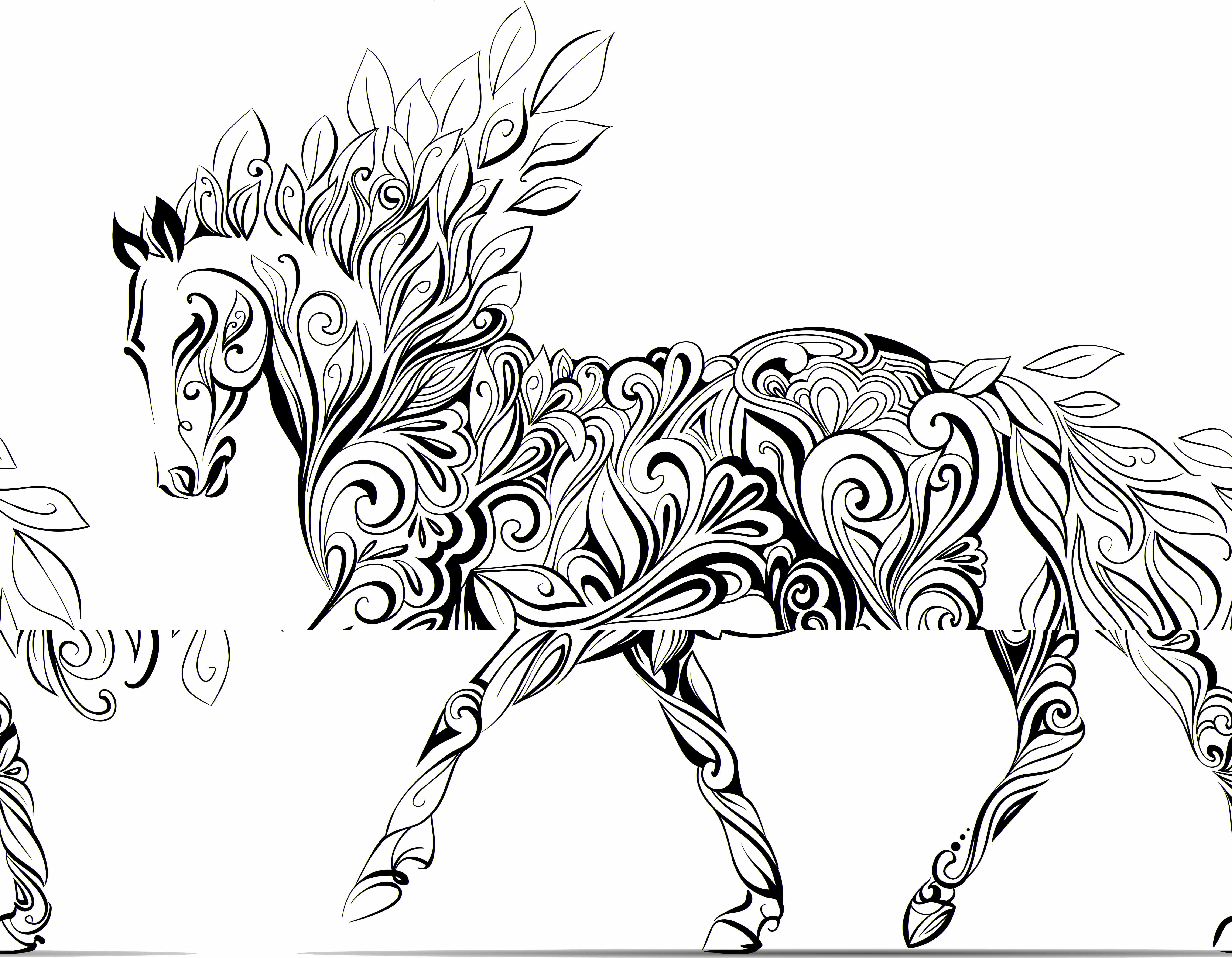 Zentangle Horse Coloring Pages at GetDrawings.com | Free for ...
