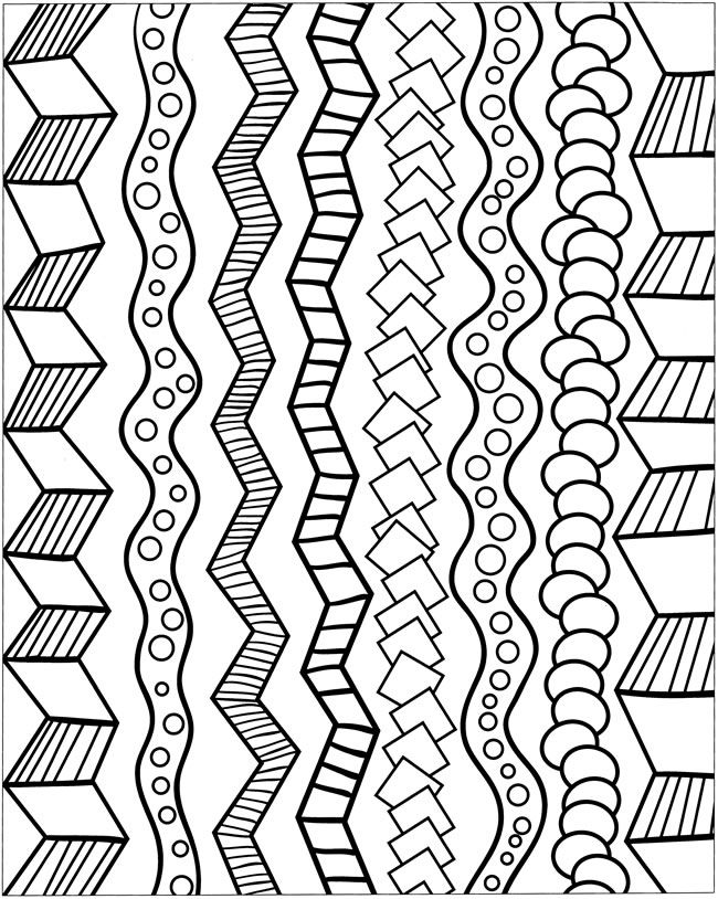 Zentangle Patterns Coloring Pages