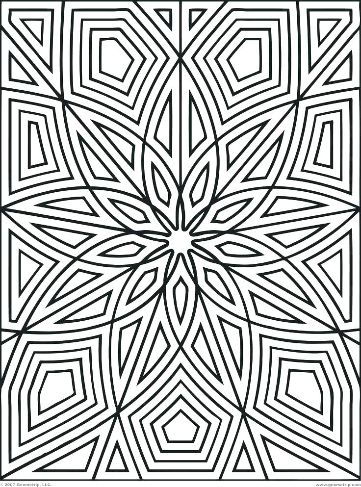 736x993 Patterns Coloring Pages Cool Pattern Coloring Pages Geometric